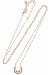 Astrid And Miyu Fitzgerald Block 14 Karat Gold Plated Crystal Necklace Gold
