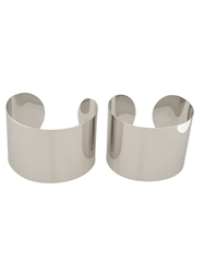 Maison Martin Margiela High Polish Cuff Set Metallic