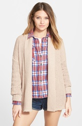 Billabong Open Front Knit Cardigan Almond
