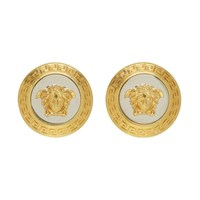 Versace Gold And Silver Large Icon Medusa Earrings