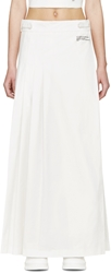 Off White Ssense Exclusive White Pleated Maxi Skirt