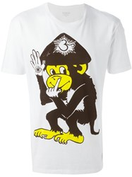 Paul Smith Jeans Monkey Print T Shirt White