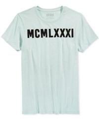 Guess Men's Graphic Print T Shirt Tinted Mint