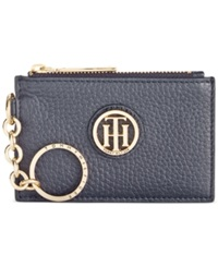 Tommy Hilfiger Lucky Charm Pebble Leather Id Coin Purse Tommy Navy