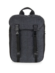 Lanvin Checked Print Wool And Leather Backpack