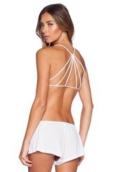 Free People Strappy Back Bra White