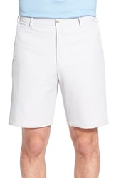 Men's Big And Tall Peter Millar 'Salem' Flat Front Performance Shorts British Grey