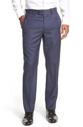 Men's John W. Nordstrom Creased Wool Chinos Navy Peacoat Heather
