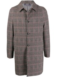 Circolo 1901 Houndstooth Check Single Breasted Coat Neutrals