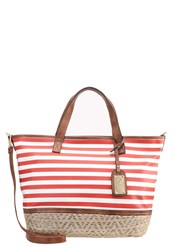 Buffalo Tote Bag Red White