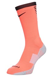 Nike Performance Stadium Crew Sports Socks Hyper Orange Black