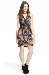 Whitney Eve 'Karoo' Geometric Print Dress Juniors Black