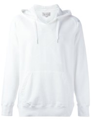 Calvin Klein Jeans Pull On Hoodie White