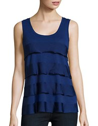 Lord And Taylor Mixed Media Tiered Tank Celestial