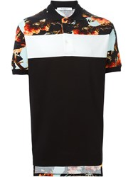 Givenchy Floral Oversize Polo Shirt Black