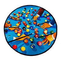 Seletti Toiletpaper Collection Round Rug Snooker