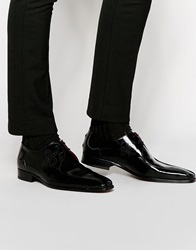 Jeffery West Leather Piping Derby Shoes Black