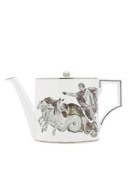 Richard Ginori X Luke Edward Hall Neptune Porcelain Tea Pot White Print