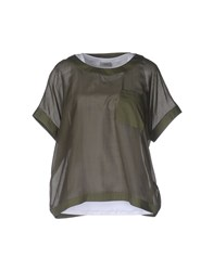 Cappellini By Peserico Blouses Military Green