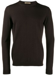 Nuur Fine Knit Sweatshirt Brown