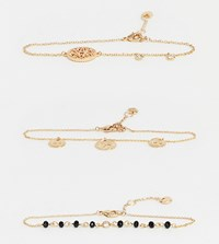 Aldo Adasa Multi Pack Coin And Charm Bracelets In Gold