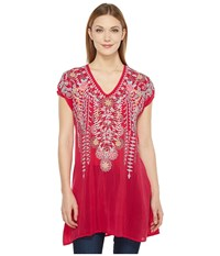 Johnny Was Karineh Tunic Pomegranate Women's Blouse Pink
