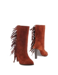 Mysuelly Ankle Boots Rust