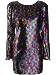 Aniye By Sequinned Mini Dress Pink And Purple