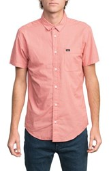 Rvca 'That'll Do' Slim Fit Microdot Woven Shirt Baked Apple