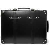 Globe Trotter 20 Leather Trimmed Carry On Suitcase Black