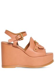 See By Chloe 100Mm Leather Sandals Blush