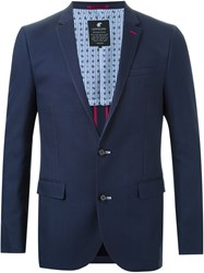 Loveless Notched Lapel Blazer Blue