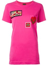 Mr And Mrs Italy Multipatch T Shirt Pink Purple