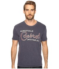 Lucky Brand Castrol Graphic Tee American Navy Men's T Shirt