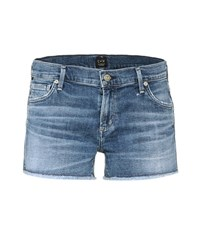 Citizens Of Humanity Ava Cut Off Denim Shorts Blue