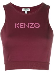 Kenzo Cropped Logo Top Purple