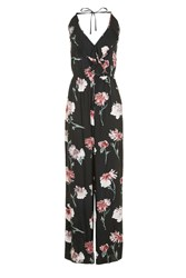 Band Of Gypsies Floral Ruffle Jumpsuit By Black
