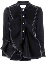 Alexander Mcqueen Ruffled Fitted Jacket 60
