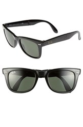 Women's Ray Ban 'Folding Wayfarer' 50Mm Sunglasses Black