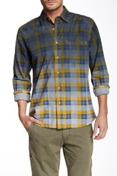 Vintage 1946 Huntington Dip Dye Classic Fit Plaid Long Sleeve Shirt Multi
