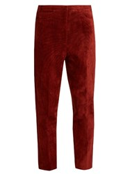 Golden Goose Kenzie Cropped Corduroy Trousers Red