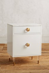 Anthropologie Lacquered Regency Bath Cabinet Small White