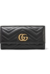 Gucci Gg Marmont Quilted Leather Wallet Black