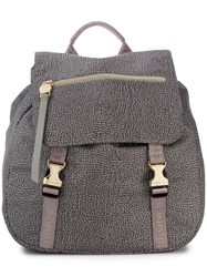 Borbonese Medium Jet Backpack Grey