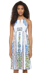 Plenty By Tracy Reese Halter Midi Dress Woodblock Floral