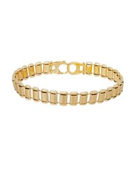 Lord And Taylor 14K Yellow Gold Watch Band Link Bracelet