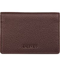 Dents Rfid Protection Leather Card Holder Chocolate