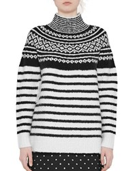 French Connection Norway Knit Sweater Cream Black