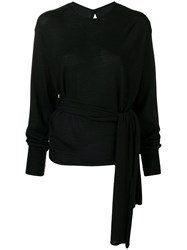 Esteban Cortazar Scarf Top Black