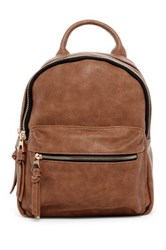 Urban Expressions Ace Vegan Leather Backpack Brown